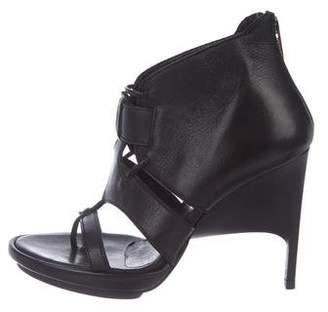 Helmut Lang Leather Cage Sandals