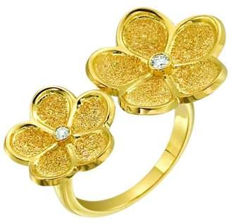 Gumuchian Daisy 18K Yellow Gold and 0.07ct Diamond Floating Ring Size 6.5