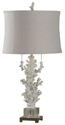 Stylecraft Style Craft Hand Carved Coral 32 Table Lamp