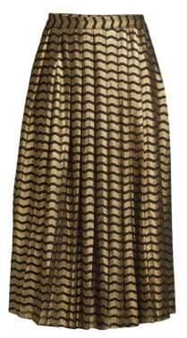 MICHAEL Michael Kors Swing Stripe Pleated Skirt