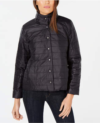 Eileen Fisher High-Neck Quilted Jacket, Regular & Petite