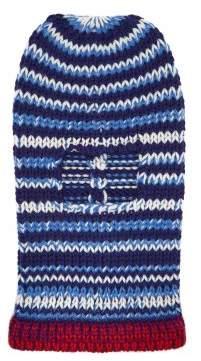 Calvin Klein Striped Wool Knit Balaclava Hat - Womens - Navy