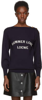 Loewe Navy Summer Love Sweater