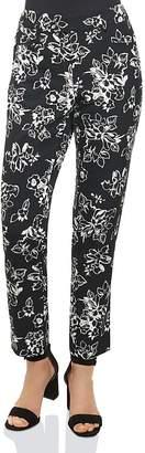 Foxcroft Rachel Floral Print Ankle Pants