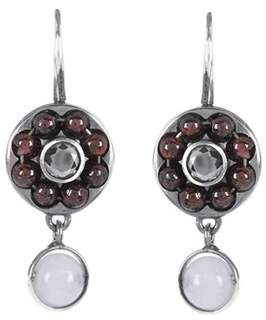 Bottega Veneta Sterling silver earrings with garnet, cubic zirconia and chalcedony