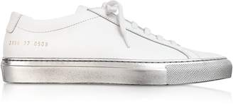 Common Projects White Achilles Low Women's Sneakers w/Silver Sole