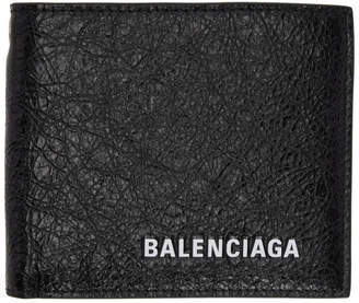 Balenciaga Black Logo Chain Wallet