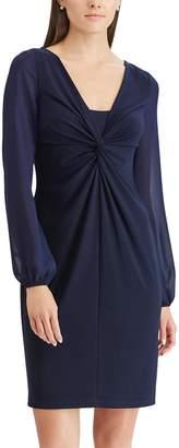 Chaps Women's Twist-Front Sheath Dress