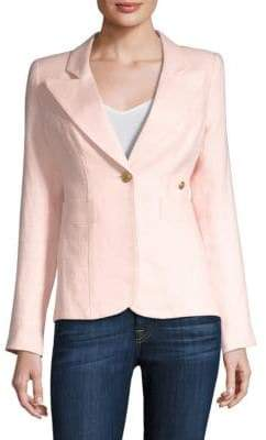 Smythe Linen Button-Front Jacket