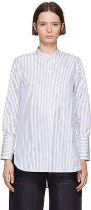 Studio Nicholson Navy Striped Shirt