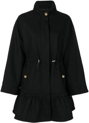 Moschino classic zipped coat