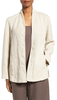 Women's Eileen Fisher Organic Linen Kimono Jacket $278 thestylecure.com