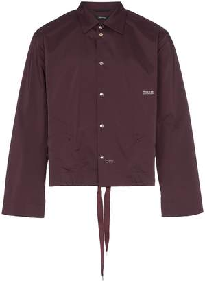 PORTVEL Drawstring hem shirt jacket