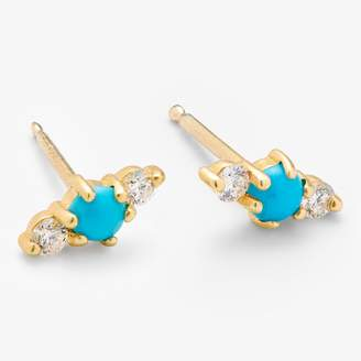 Ila Turquoise & Diamond Hanley Studs