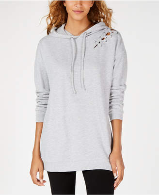 Material Girl Juniors' Lace-Up Hoodie