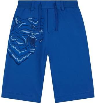 Roberto Cavalli Tiger Face Jersey Shorts