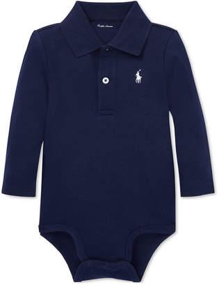 Polo Ralph Lauren Ralph Lauren Baby Boys Cotton Interlock Polo Bodysuit