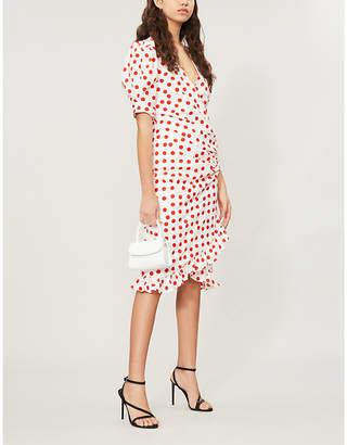 De La Vali Shanna polka dot-patterned cotton dress