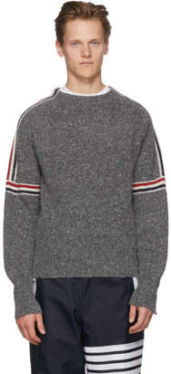 Thom Browne Grey Classic Crewneck Stripes Pullover