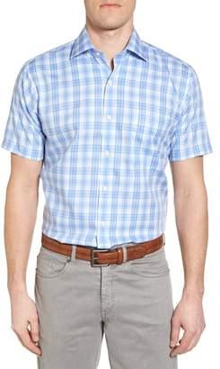 Peter Millar Crown Ease Sloan Regular Fit Plaid Sport Shirt