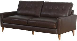 Abbyson Living Mckinley Mid Century Top Grain Leather Sofa