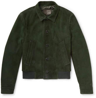 Prada Slim-Fit Suede Blouson Jacket