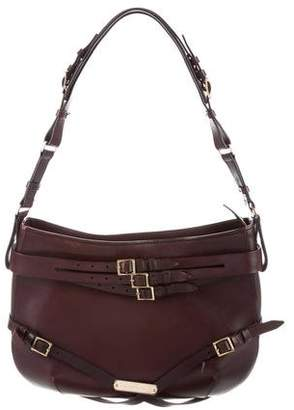 Burberry Leather Buckle-Accented Hobo