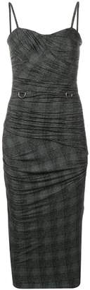 Max Mara ruched fitted dress