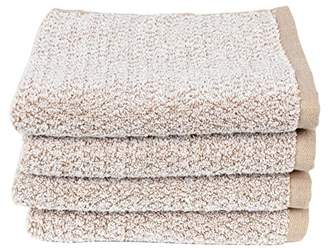 Everplush Diamond Jacquard Quick Dry Hand Towel Set in Brown