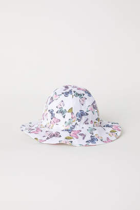 H&M Patterned Sun Hat - White