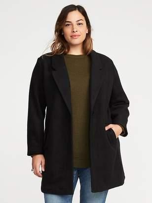 Old Navy Soft-Brushed Plus-Size Everyday Coat