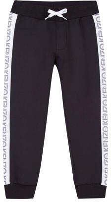 Kenzo Tricot Jogger Pants w/ Logo Tape Sides, Size 14-16