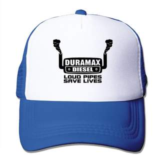 Diesel WHBDDYEH Pattern Snapback Hats Duramax Logo Flat-along Mesh Cap