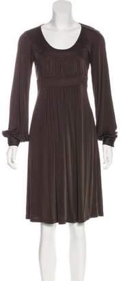 Michael Kors Long Sleeve A-Line Dress