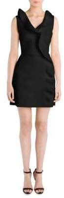 MSGM Cascading Ruffle Sheath Dress