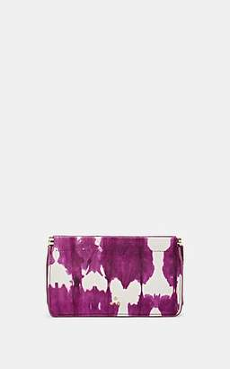 Jerome Dreyfuss Women's Clic Clac Medium Leather Clutch - Violet