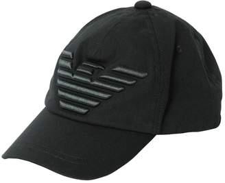 Emporio Armani LOGO EMBROIDERED COTTON BASEBALL HAT