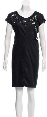 Robert Rodriguez Embellished Knee-Length Dress