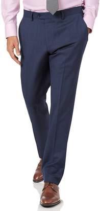Charles Tyrwhitt Airforce Blue Slim Fit Sharkskin Travel Suit Wool Pants Size W32 L38