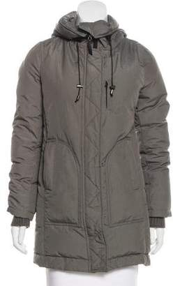 CNC Costume National Hooded Zip-Up Insulated Jacket