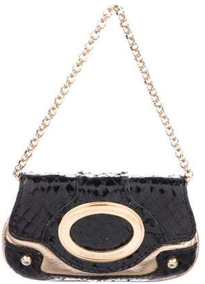 Dolce & Gabbana Snakeskin & Metallic Leather Bag