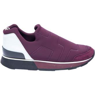 Hermes Purple Cloth Trainers