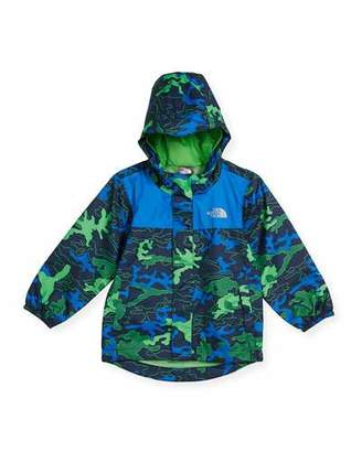 The North Face Tailout Camouflage Rain Jacket, Blue, Size 2-4T