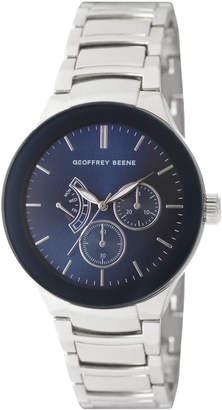 Geoffrey Beene GB8152SL Silver-Tone & Blue Watch