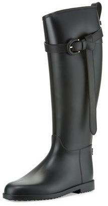 Burberry Roscot Belted Rain Boot, Black $375 thestylecure.com