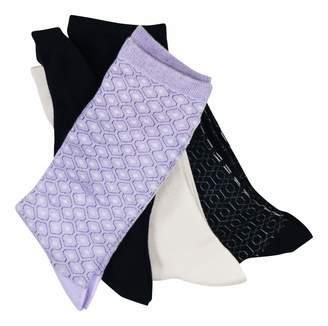 Gold Toe Womens Asst 4 Pack Casuals Geo Repeat Crew Fashion socks