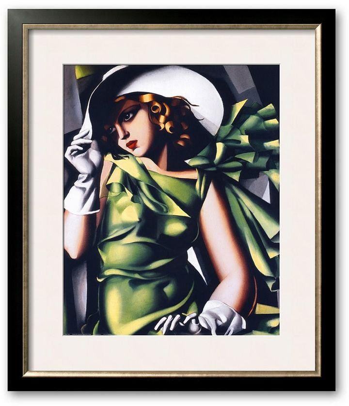 """Art.com """"Jeune Fille Vert"""" Framed Art Print by Tamara de Lempicka"""