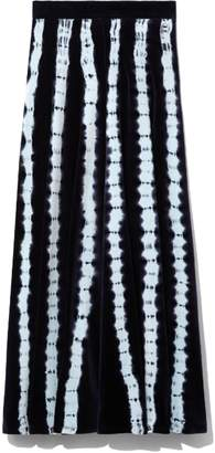 Proenza Schouler Tie Dye Skirt in Indigo/Baby Blue