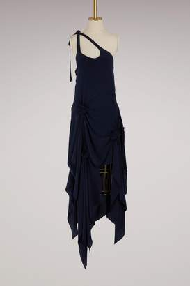 J.W.Anderson Asymmetric silk dress