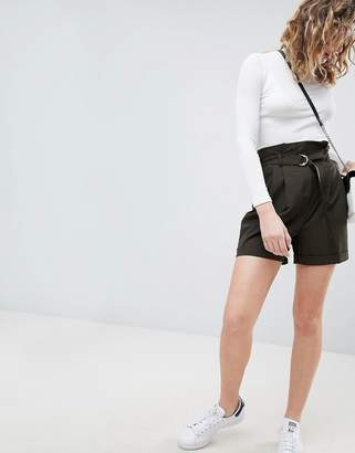 Asos DESIGN Tailored D-Ring Paper Bag Short